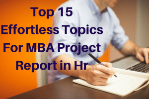 mba project titles in hr