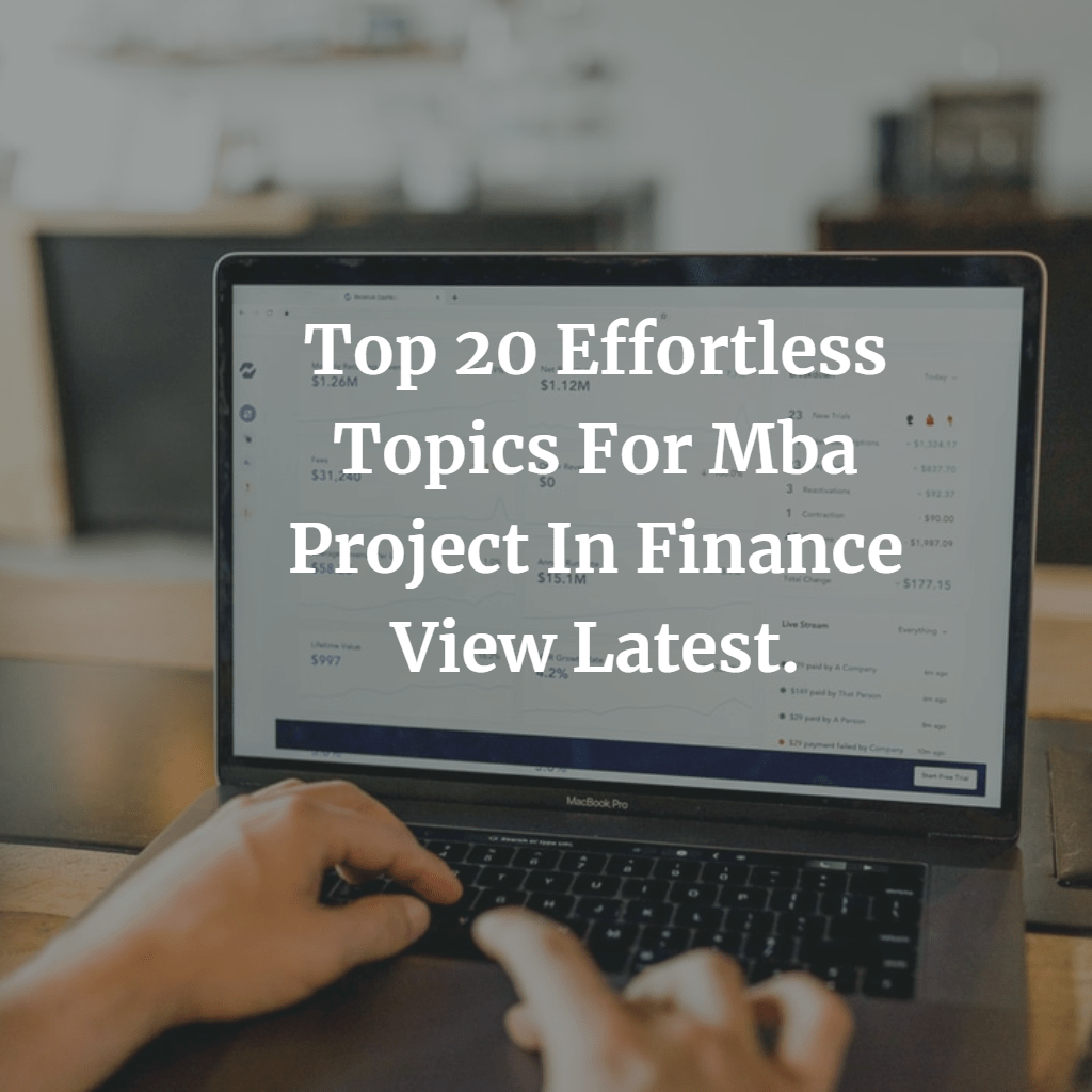 finance mba project topics