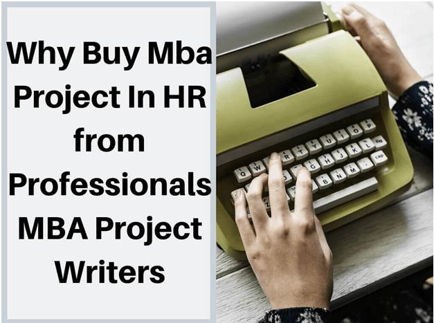 mba hr project pdf